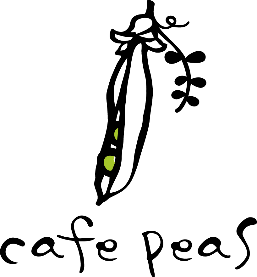 cafe peasメインロゴ